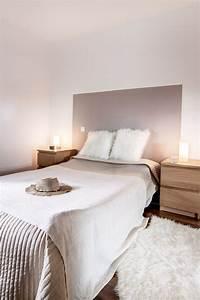 Chambre Decoration Taupe Et Blanc Beige Bois DIY Tete De