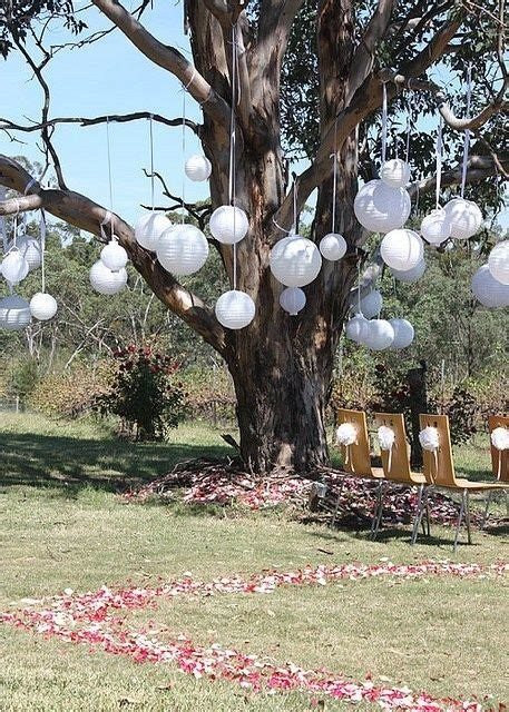 outdoor tree decorations wedding decor pinterest