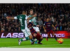 Barcelona 40 Real Betis Lionel Messi among the goals on