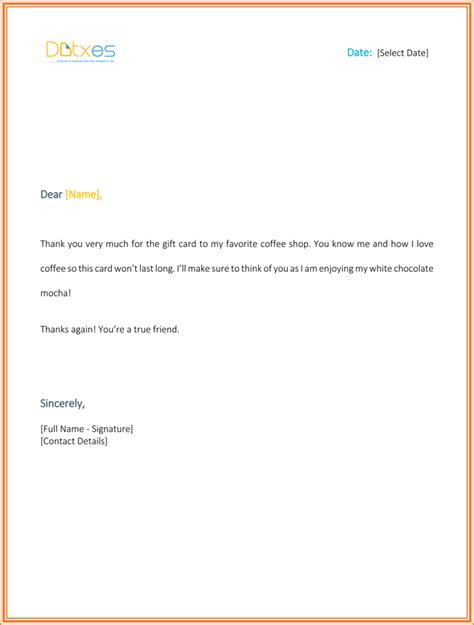 gift card letter template 8 best thank you letters to appreciate the gifts from