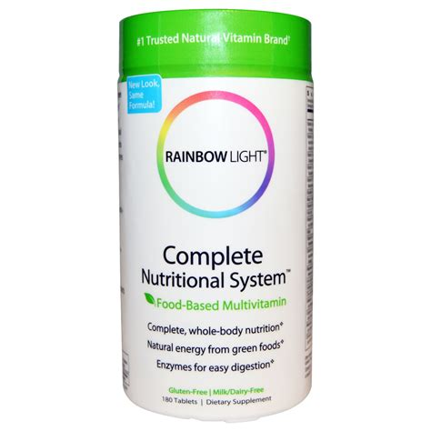rainbow light multivitamin review rainbow light complete nutritional system food based