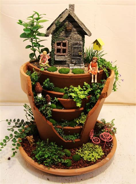 Quiet Cornerfairy Garden In Container  Amazing Ideas
