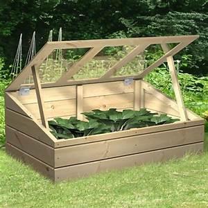 Mini Potager En Bois : serre ch ssis bois 100 x 60 cm mini serre de jardin ~ Premium-room.com Idées de Décoration