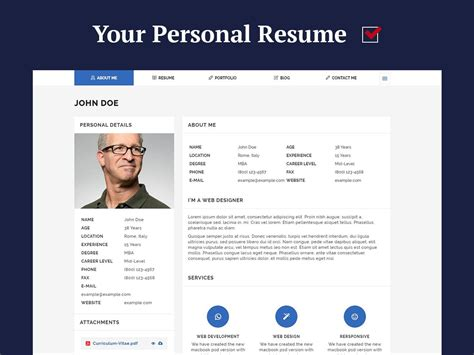personal resume and cv themes for 2017 wp