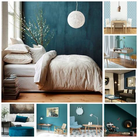 chambre blue déco scandinave et couleurs