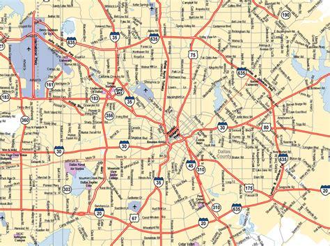 dallas texas city map dallas texas usa mappery