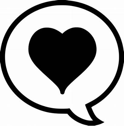 Icon Heart Comment Coracao Svg Clipart Onlinewebfonts
