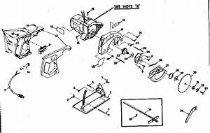 Craftsman 31510910 Circular Saw Parts