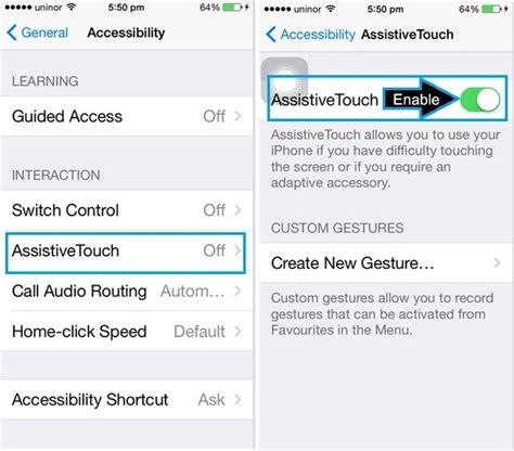 how to enable on iphone 5s add touch screen home button on iphone x iphone 8 plus