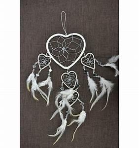 Attrape Reve Maison Du Monde : attrape r ves blanc original fait main forme coeur achat ~ Dailycaller-alerts.com Idées de Décoration