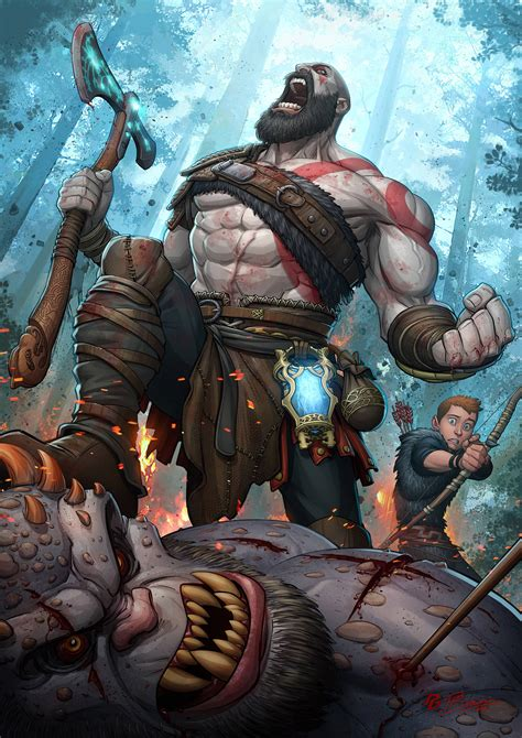 kratos god  war zerochan anime image board