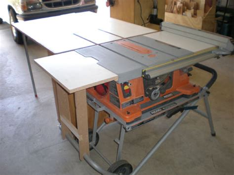 portable table saw outfeed table tablesaw outfeed table on pinterest table saw diy table