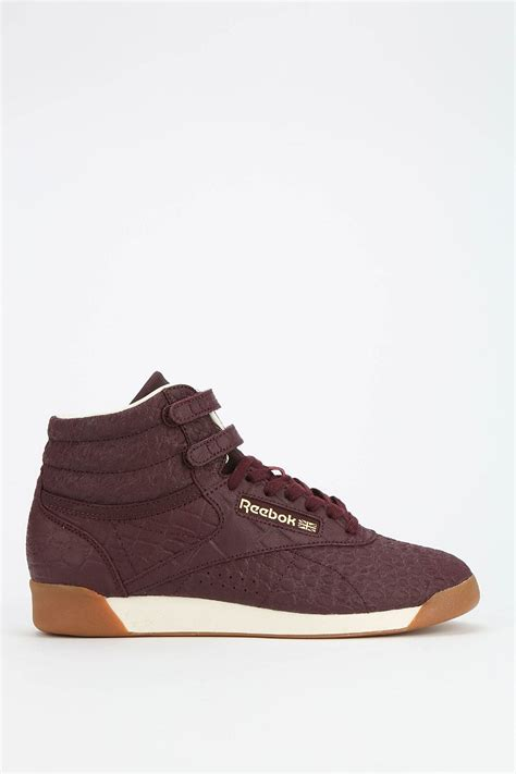lyst reebok exotics high top sneaker  purple