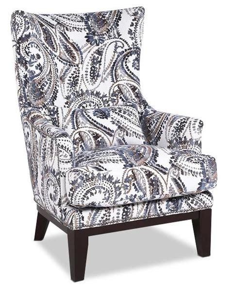 haden fabric accent chair paisley  brick