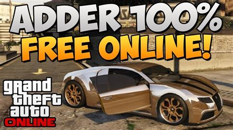 """In this video i wiil show you. GTA 5 Online ADDER Online Spawn Location! FREE Bugatti Veyron! """"GTA 5 Rare & Secret Vehicles ..."""