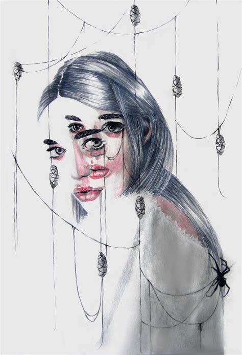 layered portraits  gaia alari marie esther bleaq