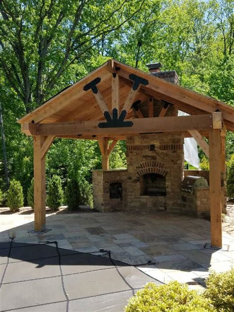 Pavilion Plans Backyard by Choosing Decorative Metal Brackets For Wood Beams Weather