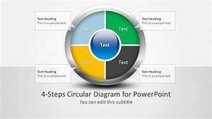 4 Steps Circular Diagram Design For Powerpoint