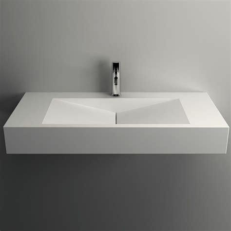 lavabo rectangulaire salle de bain plan vasque salle de bain suspendu 90x45 cm mati 232 re composite min 233 ral
