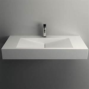 plan vasque salle de bain suspendu 90x45 cmmatiere With lavabo encastrable salle de bain