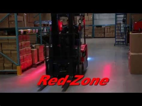 red zone safety light red zone led pedestrian warning light youtube