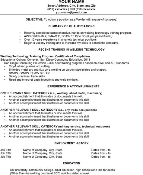 6 welder resume templates free download