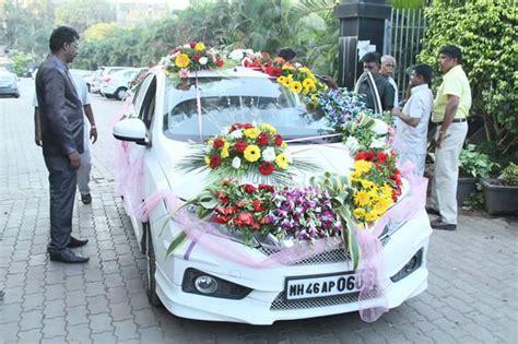 wedding car flower decoration  flower  petals