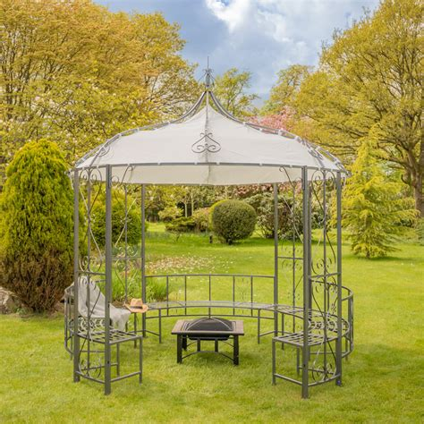 abbotsford metal gazebo bench