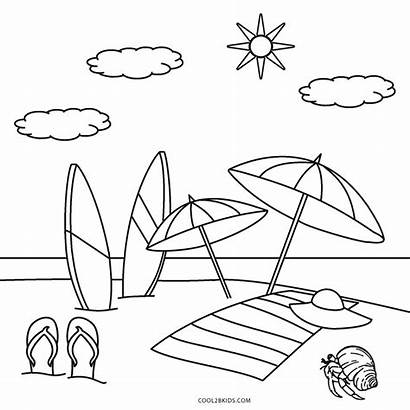 Coloring Beach Pages Printable Toddlers