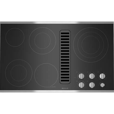 electric cooktop with vent electric radiant downdraft cooktop 36 quot jenn air