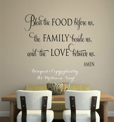 stickers phrase cuisine quot bless the food quot vinyl lettering wall decal words home