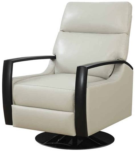 cosmopolitan white leather swivel recliner u1209 04