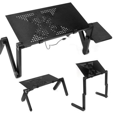 portable laptop stand desk table tray  cooling fan