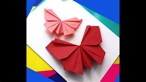 Diy butterfly wall decorations kids room. Origami butterfly - Easy to do. Paper butterfly - Wall ...