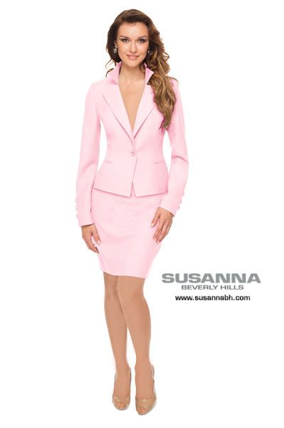 Womens Pink Jacket Designed By Susanna Beverly Hills