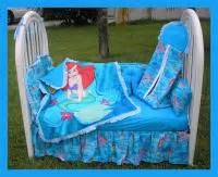 new baby crib bedding set made w little mermaid fabric ebay