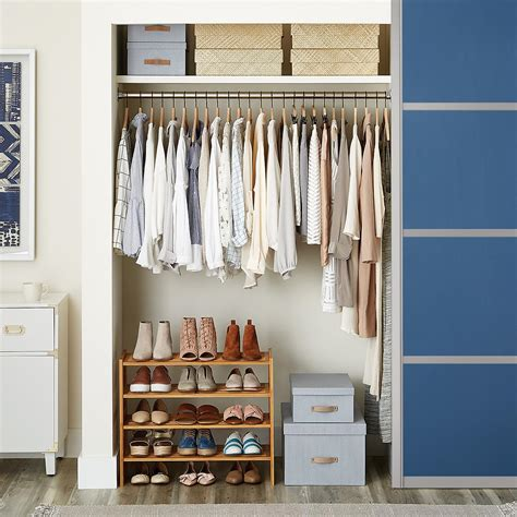 D Closet by 2 Tier Bamboo Stackable Shoe Shelf The Container Store