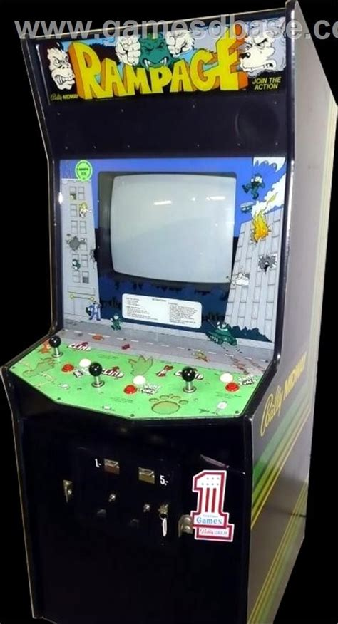 Rampage Video Games Pinterest Arcade Arcade Games