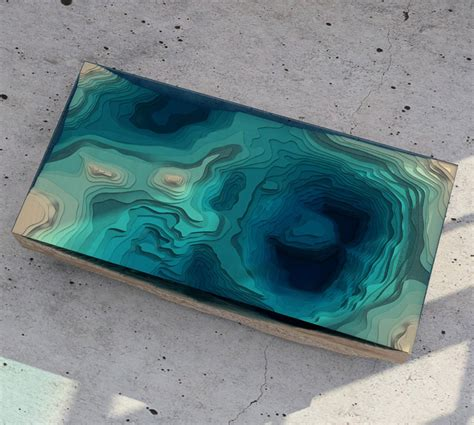 layered glass table concept creates a cross section of the