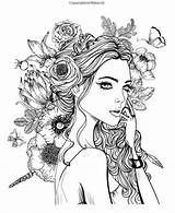 Coloring Adult Sheets Mandala Colouring Printable Rose Dibujos Adults Ups Drawing Adultos Colorear Fairy Faces Desenhos Sketches Mujer Age Grown sketch template