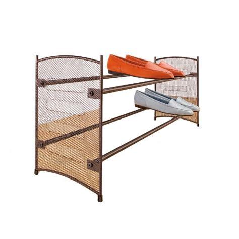target shoe rack lynk expandable stackable shoe rack steel mesh shoe