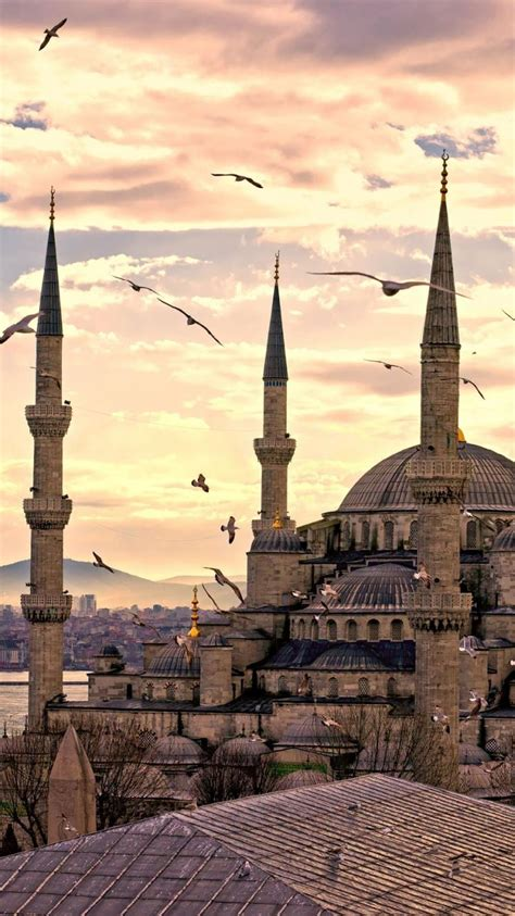 blue mosque district istanbul sultanahmet turkey wallpaper