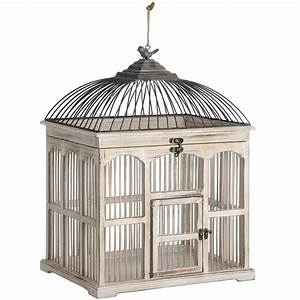 Antique White Victorian Bird Cage From Hill Interiors
