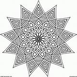 Coloring Pages Geometric Complex Popular Pdf sketch template