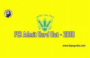 Fci Admit Card 2018