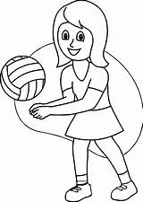 Coloring Playing Volleyball Soccer Printable Joy Colouring Olphreunion Boys Coloringfolder sketch template