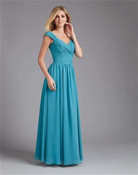 neck long teal blue chiffon ruched wedding guest