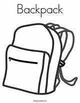 Coloring Backpack Pages Ll sketch template