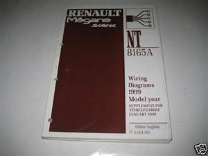 Workshop Manual Electrical Wiring Diagram Renault Megane Scenic From 01  1999