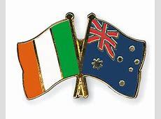 Crossed Flag Pins IrelandAustralia Flags